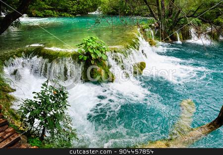 Waterfalls in Plitvice Lakes National Park, Croatia stock photo, Beautiful waterfalls in Plitvice Lakes, National Park of Croatia by Serghei Starus