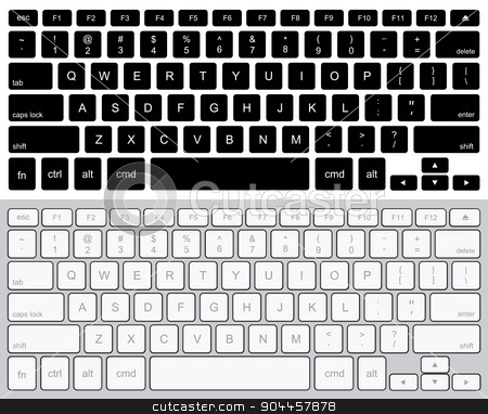 Vector modern computer keyboards background.  stock vector clipart, Vector modern computer keyboards background. technology design by petr zaika