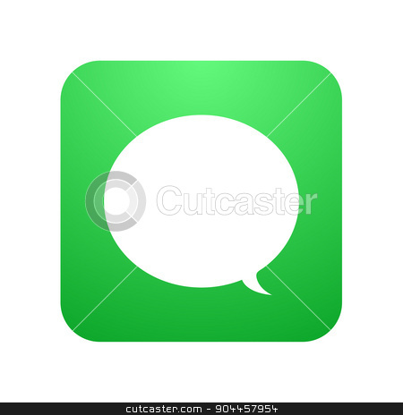 Vector modern chat icon. Bubble speech stock vector clipart, Vector modern chat icon. Bubble speech design by petr zaika
