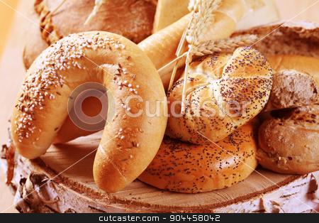 Variety of fresh bread  stock photo, Various types of fresh bread - detail by Digifoodstock