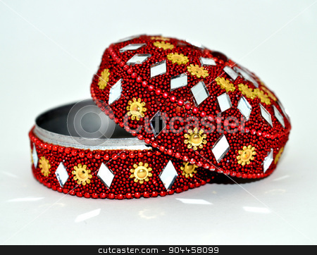 Kept jewellery   stock photo, Kept jewellery red colour and small by juman