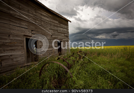 Storm Clouds Prairie Sky stock photo, Storm Clouds Prairie Sky Canada Ominous danger by Mark Duffy