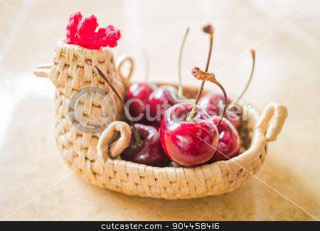 Sweet ripe fresh cherry berries stock photo, Sweet ripe fresh cherry berries, stock photo by nalinratphi