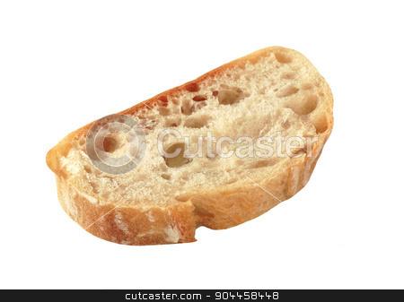 Slice of ciabatta bread stock photo, Slice of Italian white bread by Digifoodstock