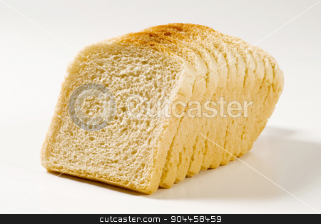 White sandwich bread stock photo, Sliced loaf of white sandwich bread by Digifoodstock