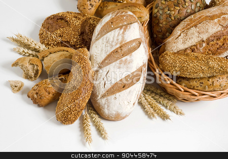 Variety of brown bread stock photo, Variety of brown bread and rolls - studio by Digifoodstock