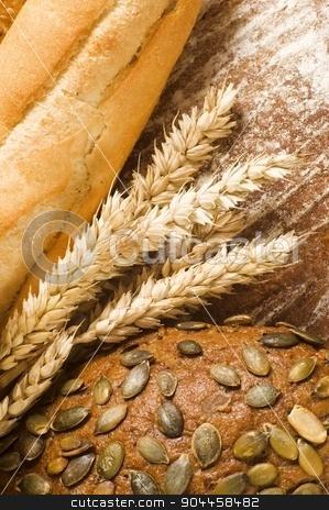 Fresh bread stock photo, Fresh bread - full frame by Digifoodstock