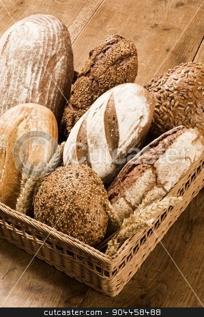 Various kinds of brown bread stock photo, Various kinds of brown bread  by Digifoodstock