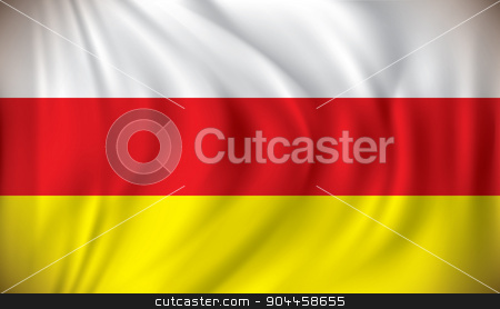 Flag of South Ossetia stock vector clipart, Flag of South Ossetia - vector illustration by ojal_2