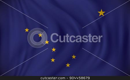 Flag of Alaska stock vector clipart, Flag of Alaska - vector illustration by ojal_2