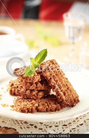 Wholegrain nutty cookies stock photo, Wholegrain nutty cookies by Digifoodstock