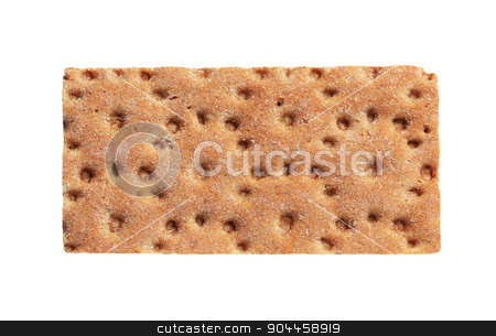Brown crisp bread  stock photo, Brown crisp bread isolated on white by Digifoodstock
