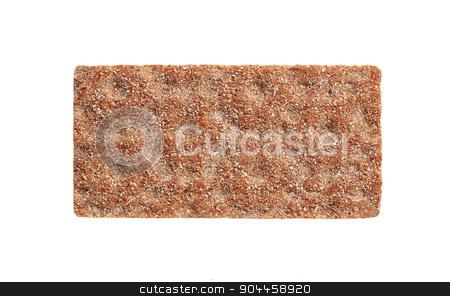 Whole grain crisp bread stock photo, Whole grain crisp bread isolated on white by Digifoodstock