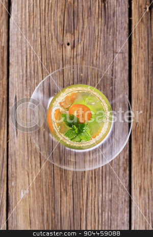 Cocktail drink stock photo, Glass of chilled cocktail drink - overhead by Digifoodstock