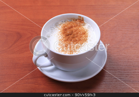 Cup of hot milk with nutmeg stock photo, Cup of hot milk with nutmeg or cinnamon by Digifoodstock