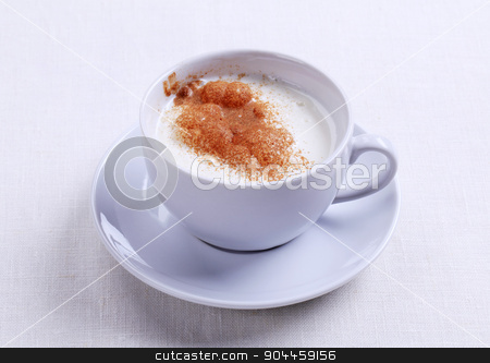 Vanilla steamer stock photo, Vanilla steamer with a dusting of nutmeg or cinnamon by Digifoodstock