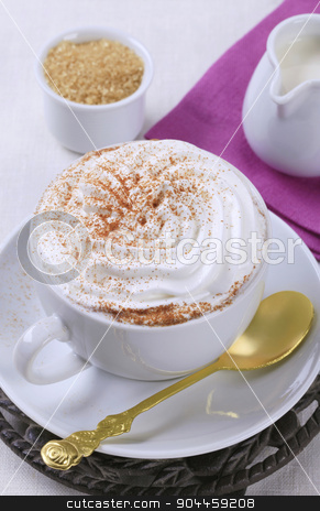 Cup of Vienna coffee stock photo, Cup of coffee with whipped cream by Digifoodstock