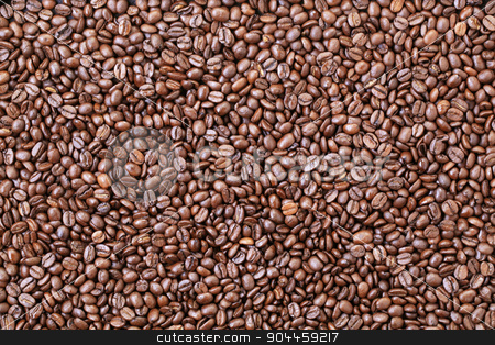 Coffee beans stock photo, Full frame of dark roasted coffee beans by Digifoodstock
