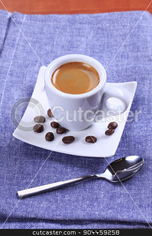 Cup of espresso stock photo, Cup of espresso with silky foam by Digifoodstock