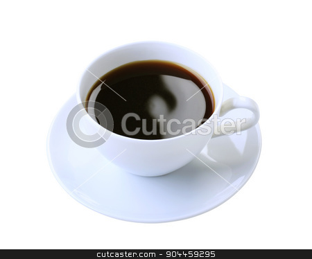 Cup of black coffee  stock photo, Cup of black coffee isolated on white by Digifoodstock
