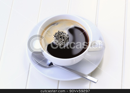 Cup of black coffee  stock photo, Cup of black coffee by Digifoodstock