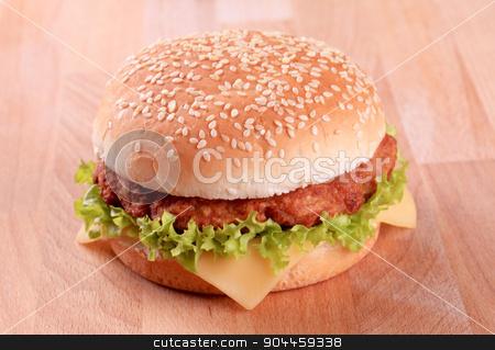 Cheeseburger  stock photo, Closeup of a Cheeseburger  by Digifoodstock