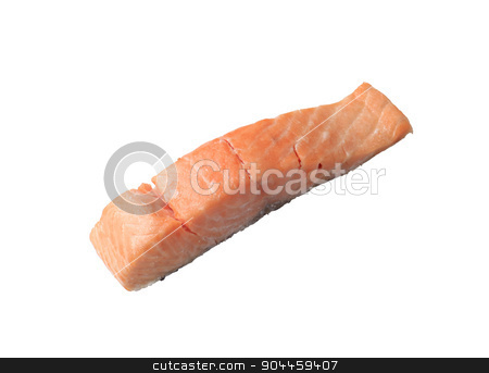 Salmon fillet stock photo, Studio shot of a roasted salmon fillet by Digifoodstock