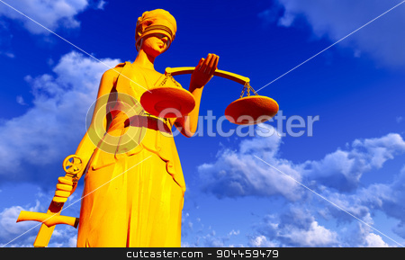 Lady of Justice stock photo, Lady of Justice.  Conceptual illustration by Dariusz Miszkiel