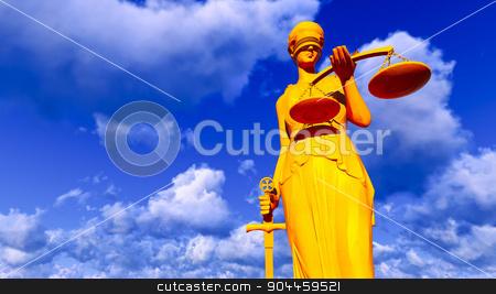 Themis - lady of justice stock photo, Themis - lady of justice. Conceptual illustration by Dariusz Miszkiel