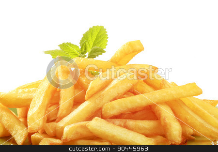 French fries  stock photo, Heap of tasty French fries - detail by Digifoodstock