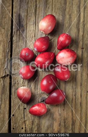 Fresh cranberries stock photo, Fresh ripe cranberries on wood  by Digifoodstock