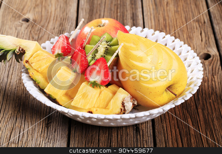 Fresh fruit stock photo, Variety of fresh fruit in a bowl by Digifoodstock