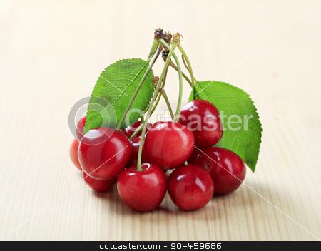Fresh red cherries stock photo, Fresh red cherries by Digifoodstock