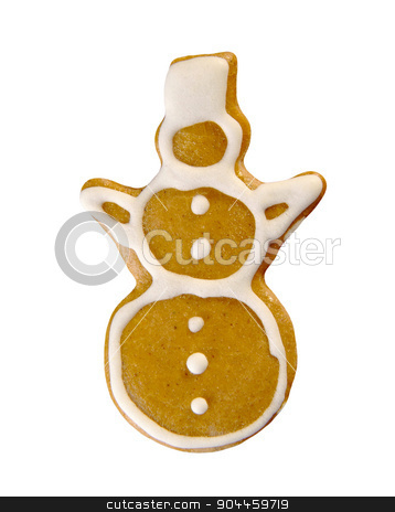 Gingerbread snowman stock photo, Gingerbread cookie in the shape of a snowman by Digifoodstock