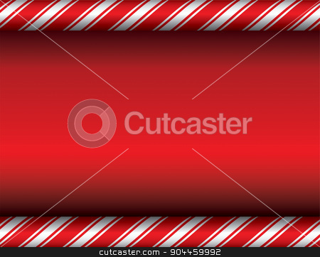 Christmas Candy Cane Red Background stock vector clipart, A red and white candy cane theme Christmas background. Vector EPS 10 available. EPS contains transparencies. by Jason Enterline