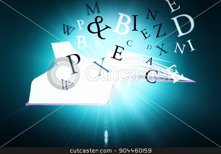Composite image of letters stock photo, letters against green background with vignette by Wavebreak Media