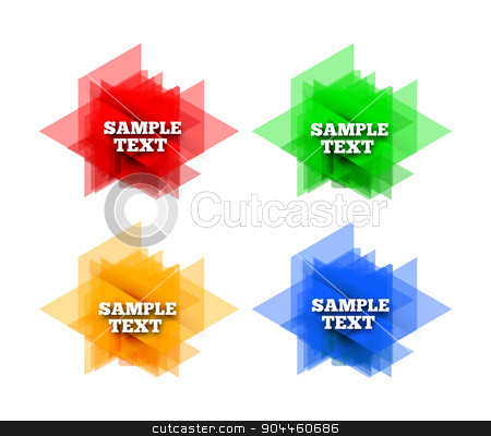 Set of colorful vector labels stock photo, Set of colorful vector labels. Triangle backhround by sermax55