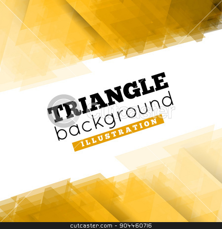 Abstract 3D geometric background stock photo, Abstract 3D geometric triangle background. Vector illustration by sermax55