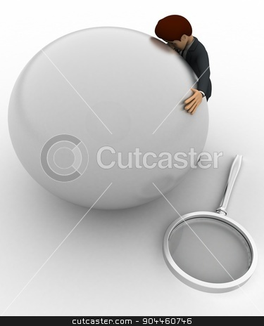 3d man hug globe concept stock photo, 3d man hug globe concept on white background, top angle view by 3dlabs