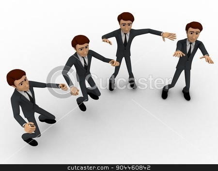 3d men dance concept stock photo, 3d men dance concept on white background, top angle view by 3dlabs