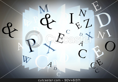 Composite image of letters stock photo, letters against orange background with vignette by Wavebreak Media