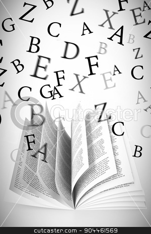 Composite image of letters stock photo, letters against white background with vignette by Wavebreak Media