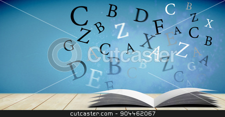 Composite image of letters stock photo, letters against light design shimmering on purple by Wavebreak Media