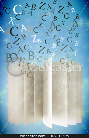 Composite image of letters stock photo, letters against light design shimmering on silver by Wavebreak Media