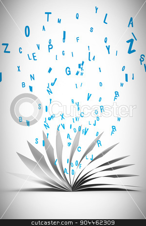 Composite image of open book stock photo, Open book against white background with vignette by Wavebreak Media