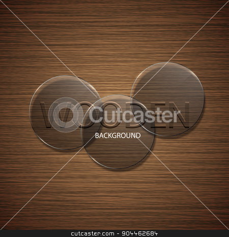 Vector modern brown wooden background. stock vector clipart, Vector modern brown wooden background. Eps10 illustration by petr zaika