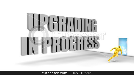 Upgrading in Progress stock photo, Upgrading in Progress as a Fast Track Direct Express Path by Kheng Ho Toh