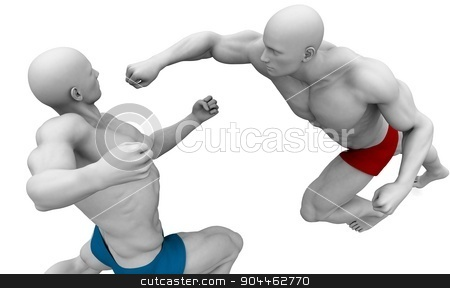Martial Arts stock photo, Martial Arts Concept for Fighting and Protection by Kheng Ho Toh