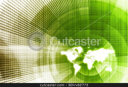 Global Business Network stock photo, Global Business Network with Modern Lines as Concept by Kheng Ho Toh