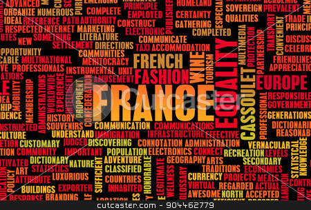 France stock photo, France as a Country Abstract Art Concept by Kheng Ho Toh
